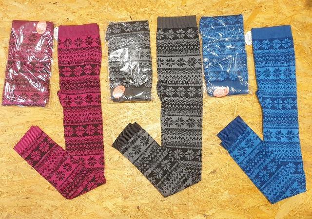 Posten mit 370 Stück Leggings mit Herbst Winter Muster 32 verschiedene Modelle