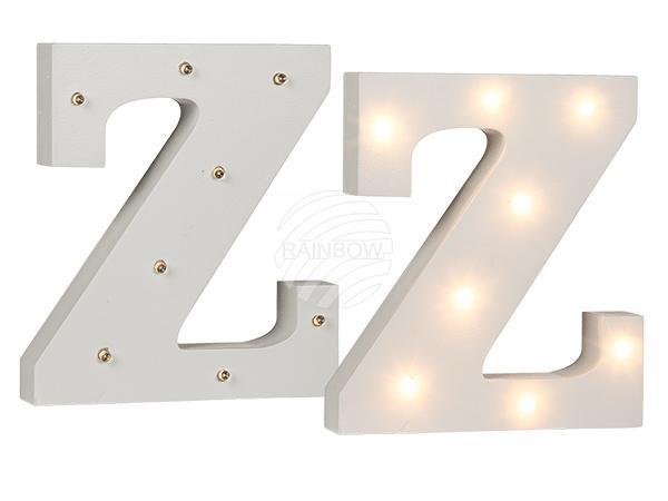 Beleuchteter Holz-Buchstabe Z, mit 8 LED