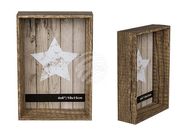 Holz-Bilderrahmen, Pure Style, 10 x 15 cm