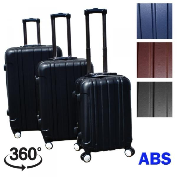 Koffer Set 3 teilig *ABS & Expandable* - schwarz