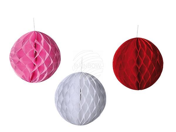 Papier-Deko-Ball mit doppelseitigem Klebeband