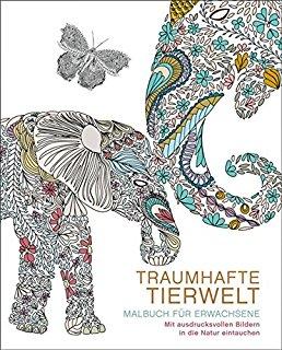 12-95398, Malbücher für Erwachsene  (Meditatives Ausmalen 4 Titel / Traumhafte Meditation / Traumhafte Tierwelt)