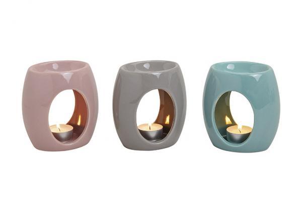 Duftlampe aus Keramik, 3-fach sortiert, B11 x T7 x H12 cm