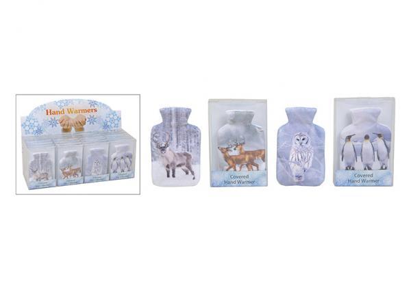 Taschenwärmer Tiere, 4-fach sortiert, B7 x H12 cm