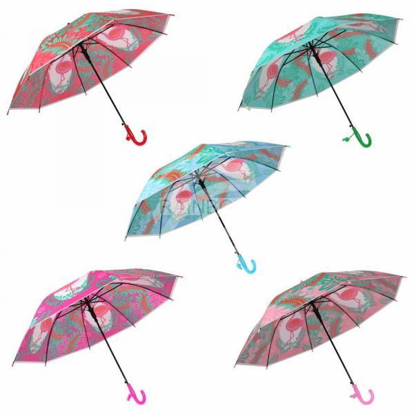Kinder Regenschirm sortiert Flamingos Tiere