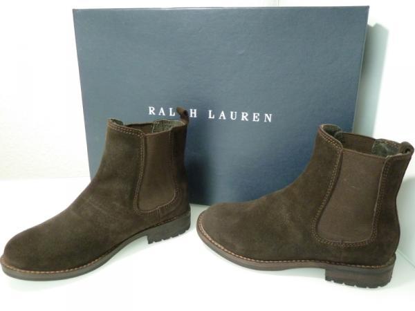 Ralph Lauren Chelsea Boot Choclate Wildleder 99229 Gr.30