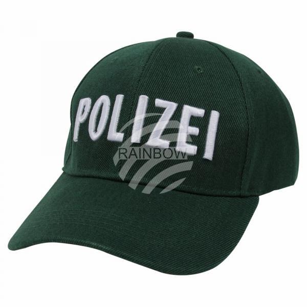 Verkleidung Basecap Kappe Kostüm grün Polizei