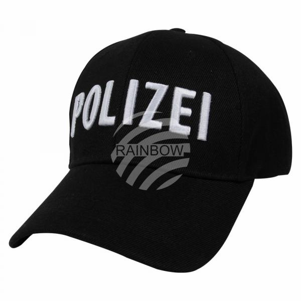 Verkleidung Basecap Kappe Kostüm schwarz Polizei