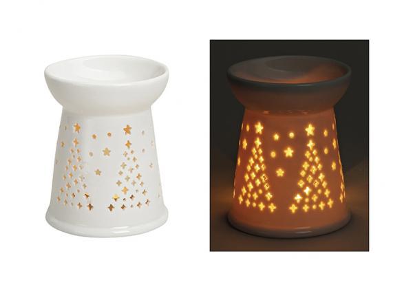 Duftlampe Tannenmotiv aus Porzellan, B12 xH10 cm