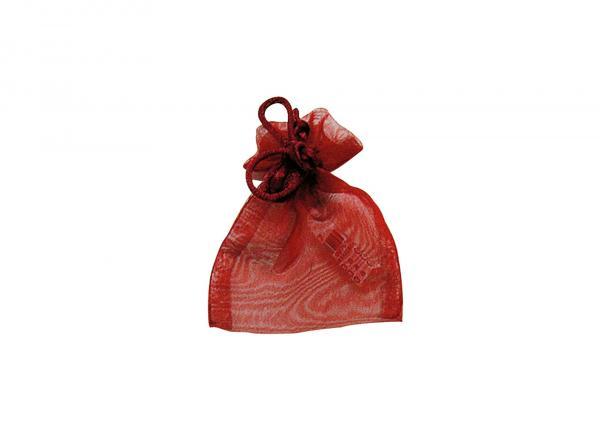Geschenksäckchen aus Organza, in bordeaux, B7 x H10 cm