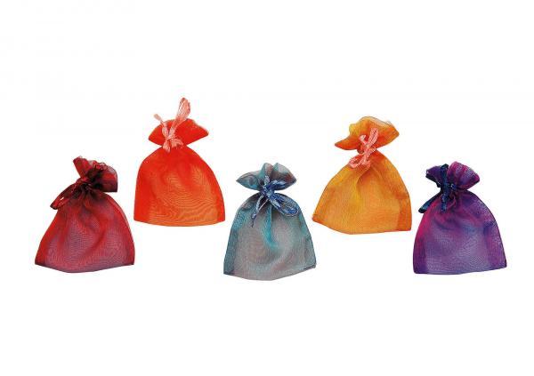Geschenksäckchen aus Organza, sortiert, B7 x H10 cm