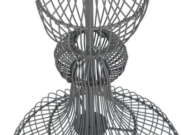 Hängeleuchte Ophelia D25x69cm Metall grau