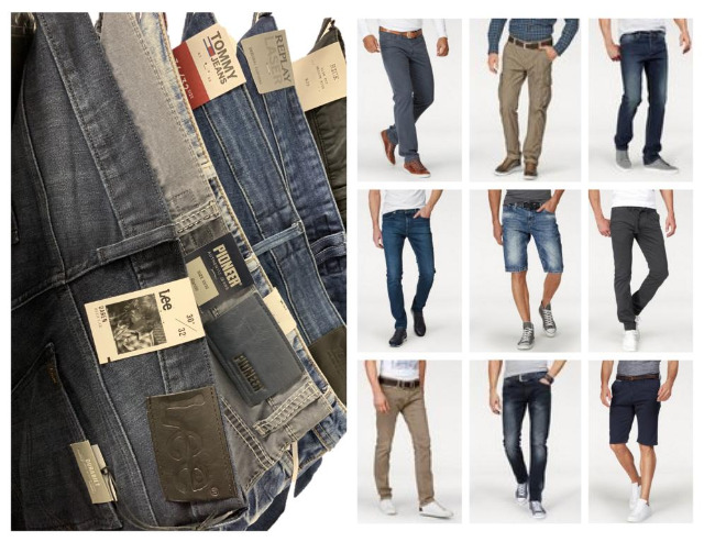 Herren Jeans Hosen Mix Replay Tommy Hilfiger Lee Tom Tailor etc Restposten