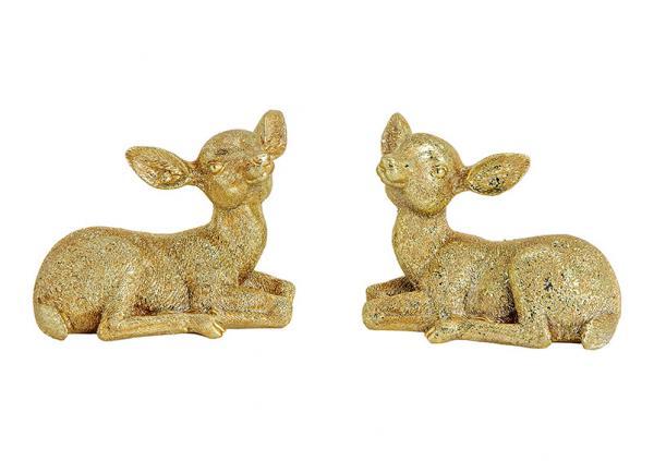 Reh liegend aus Poly Gold 2-fach, (B/H/T) 9x6x5cm
