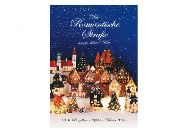 Weihnachtsbroschüre romantische Straße