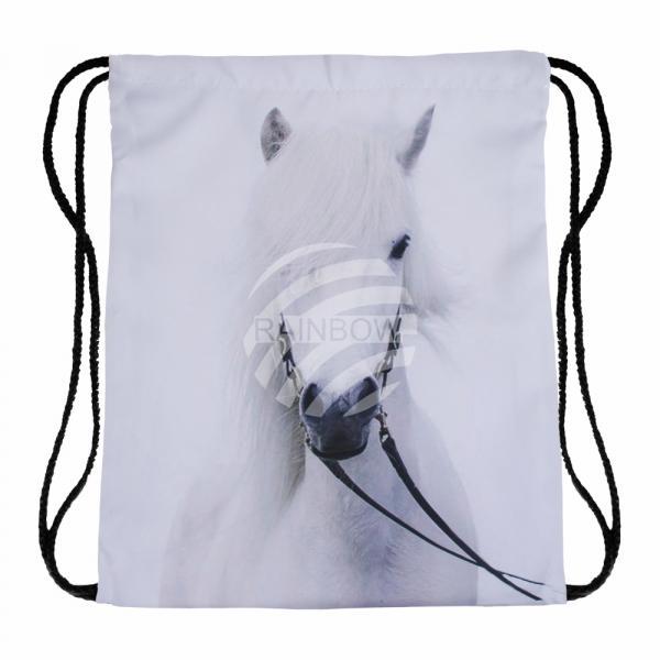 Gymbag Gymsac Rucksack weiß Pferd Schimmel