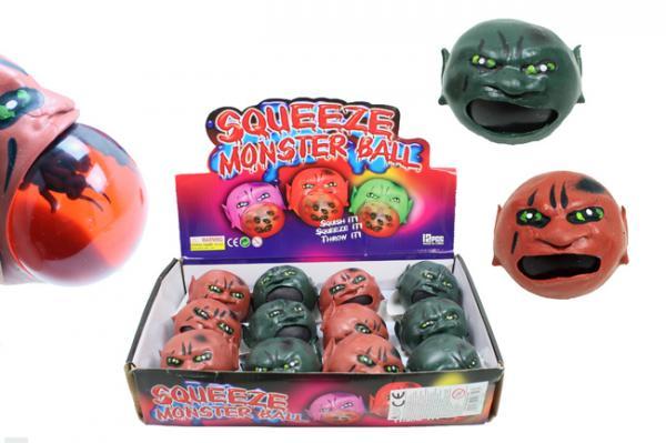 Glibberball Monsterkopf gefüllt mit Schleim u Insekten ca6cm