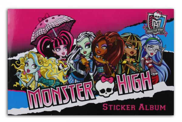 Monster High Sticker-Sammelalbum - ca 21,5x14cm