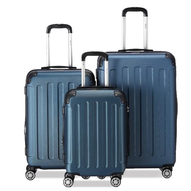 Flexot 2045 3er Reisekoffer Set - Farbe Blau Größe M L XL