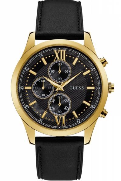 Guess Uhr Uhren Herrenuhr Chronograph W0876G5 Hudson Leder