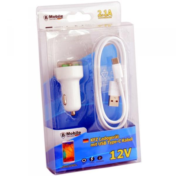 KFZ 12V Ladegerät Set mit Type-C USB Kabel