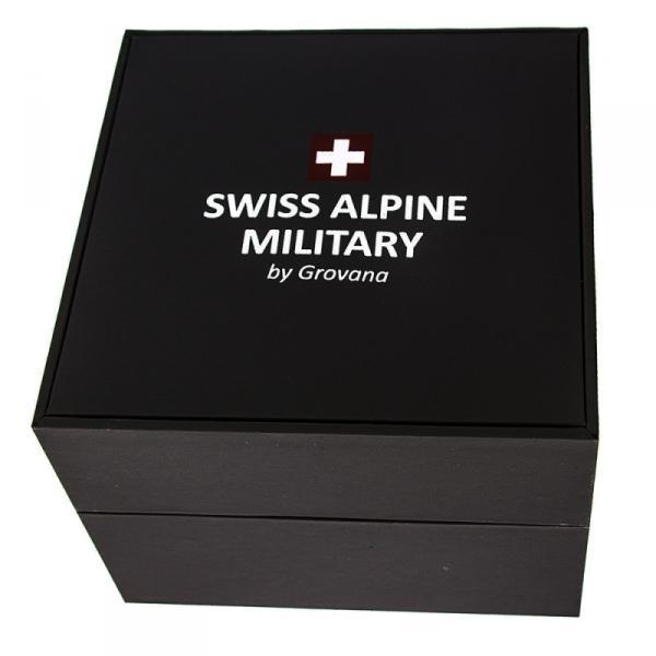Swiss Alpine Military by Grovana Herrenuhr 7058.1837 Silikonarmband schwarz silber 10 ATM