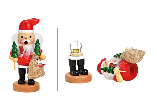 Räuchermännchen Nikolaus aus Holz Rot (B/H/T) 8x16x6cm