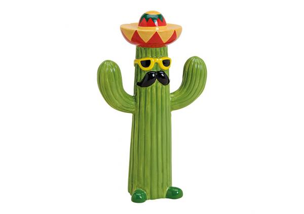 Kaktus Mexico aus Keramik Bunt (B/H/T) 13x21x7cm