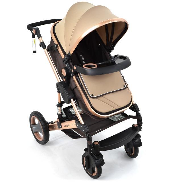 3 in1 Kinderwagen Kombikinderwagen Bambimo Buggy /& Babyschale Daliya Tisch