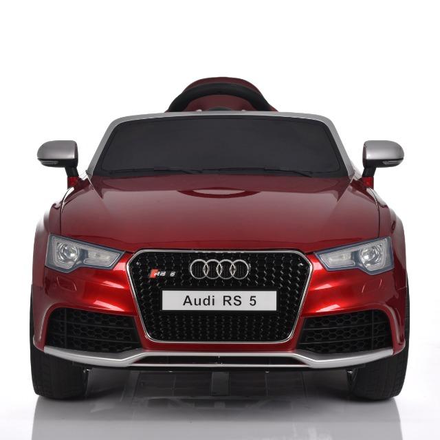 Audi RS 5 - Kinderauto Elektroauto Kinderfahrzeug E-Auto elektronisch - LED, Leder, Fernbedienung, Akku, Cabrio Verdeck - Rot-Metallic