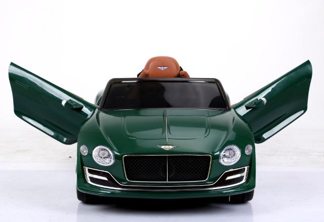 Bentley Continental Cabrio Elektro Kinderauto Kinderfahrzeug / Ledersitz / 2 x 390 Motor / 2 x 6V4AH Akku / Grün Metallic
