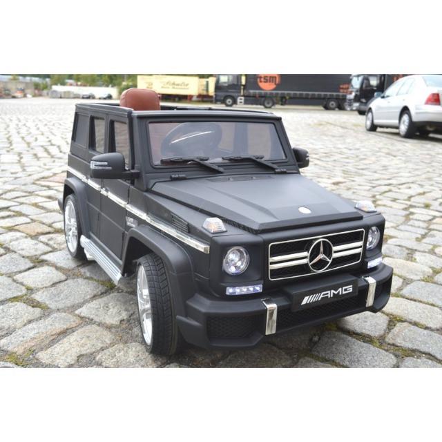 Mercedes-Benz G63 AMG - Kinderauto Elektroauto Kinderfahrzeug E-Auto elektronisch - LED, Leder, Fernbedienung, Akku, 2x35W Grau Matt-Special