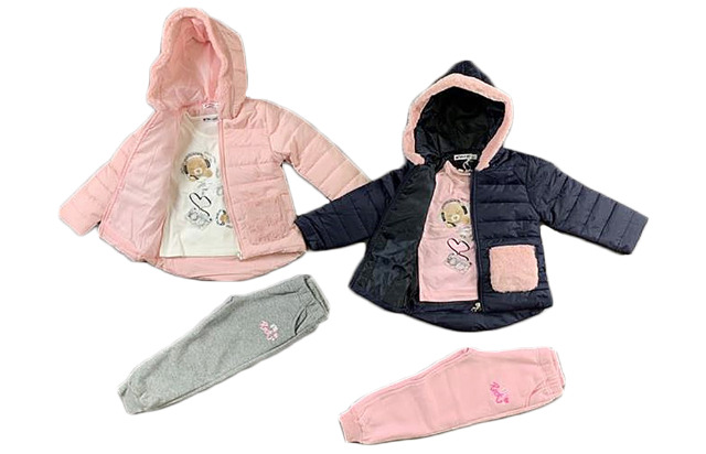 Kinder Baby Mädchen 3-Teiler Jogginganzug Jacke Shirt Hose Sportanzug Trainingsanzug Jogginghose Pulli - 11,90 Euro