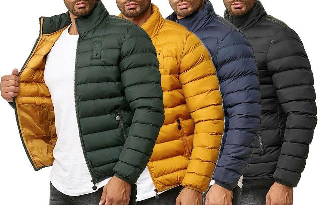 Herren Men Trend Jacke Steppjacke Winterjacke Outdoorjacke Warm gefüttert Bomberjacke Kragen Jacken Oberteile Winter - 20,90 Euro