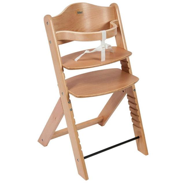 Kinder Hochstuhl Fillikid Max in braun Kinderstuhl Kindersitz Holz Esstisch Stuhl Kinder Baby Keinkind Sitzerhöhung
