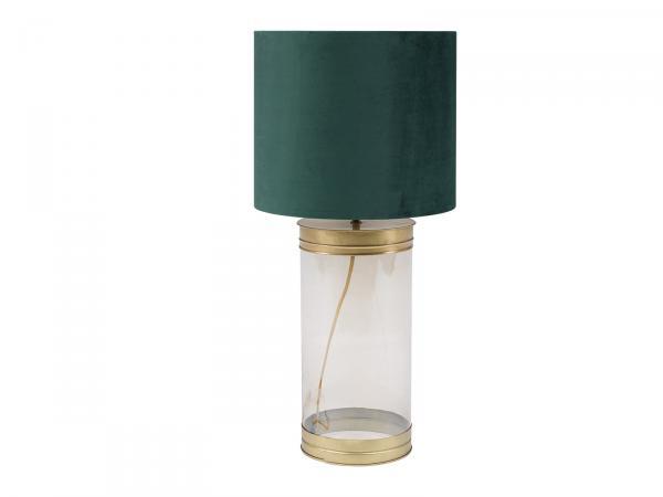 Tischleuchte Liran D35x69 cm Glas Velours grün