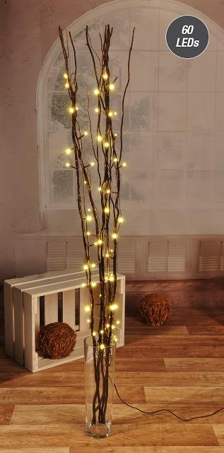 LED Lichterzweig mit Kupferlichterkette Weidenlichterzweig Osterdeko Aktion Neu