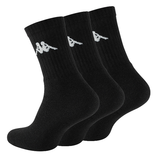 Original Kappa Sportsocken in schwarz