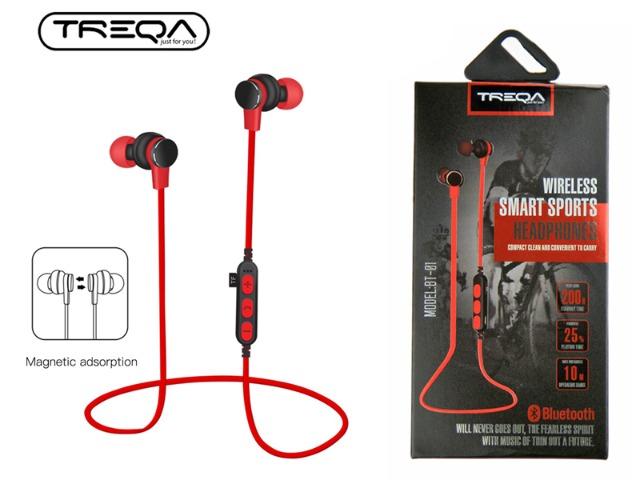 Sport Kopfhörer mit Bluetooth (Weiss / Schwarz / Rot)