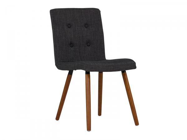 2x Stuhl Aranea Stoff schwarz
