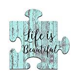 Puzzle: Life is Beautiful, Wandkunst, Puzzleteil.