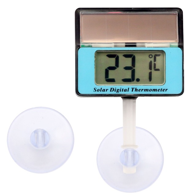 Lantelme Digital Solar Thermometer blau wasserdicht mit Saugnapf