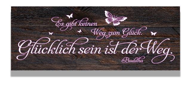 Holzschild mit wunderschönem Dekoprint in zarten Farben und Design,BUDDHA 10 cm x 30 cm.