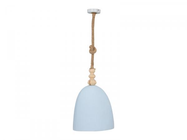 Hängeleuchte Alea 33x33x52 Fichte Metall Seil blau