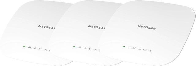 NETGEAR WAC540B03 3er Set Wireless Access Point Business AC3000 WLAN Router bis zu 3GBit/s Internet PC Computer mobil