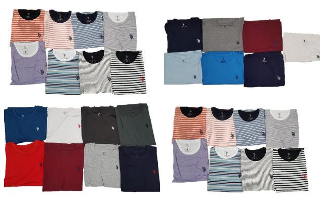 U.S. Polo Assn. T-Shirt Uni Gestreift Herren Shirts Marken Mix