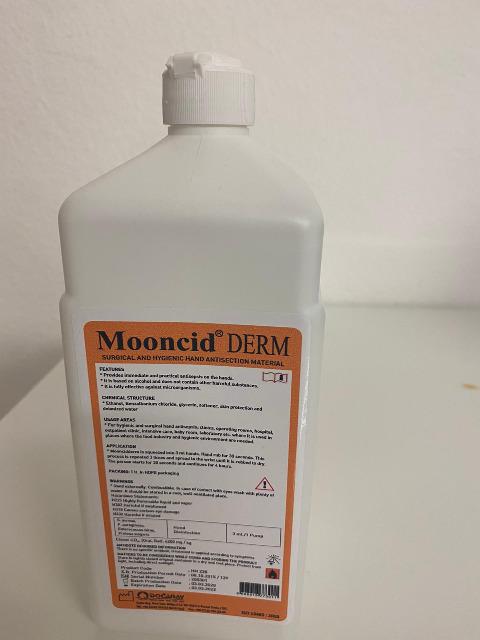20.000 x Mooncid DERM Desinfektionsmittel 1 Liter - Hand und Flächendesinfektion