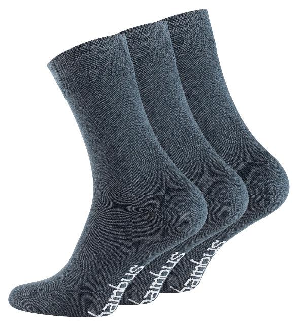 Unisex BAMBUS Socken mit nahtloser Spitze in dunkelgrau