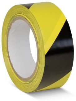 Bodenmarkierungsband schwarz gelb MADE IN GERMANY , 50 mm breit, 33 m lang Warnband ein Corona Best Seller