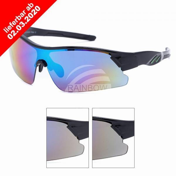 VIPER Sonnenbrille Design Sportbrille schwarz
